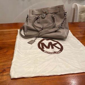Michael Kors large Hamilton Saffiano grey bag